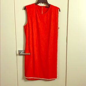 NWOT Ted Baker red dress with rhinestones sz 4